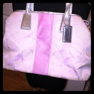 Pink coach purse good preowned condition